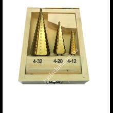 Комплект бур-фрез SEB по металлу (ступенчатые  3шт.)