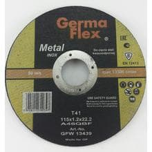 Диск отрезной GermaFlex INOX по металлу d115/1,2/22,2