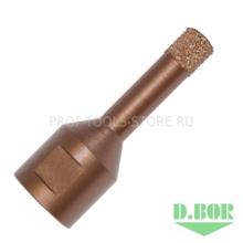 Коронка по керамограниту  D.BOR d14*62мм хв. М14 (трубчатая)