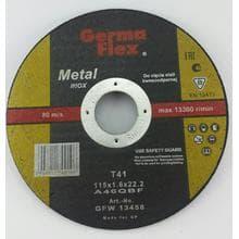 Диск отрезной GermaFlex INOX по металлу d115/1,6/22,2
