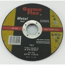 Диск отрезной GermaFlex INOX по металлу d115/1,0/22,2