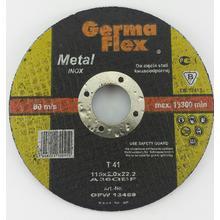 Диск отрезной GermaFlex INOX по металлу d115/2,0/22,2