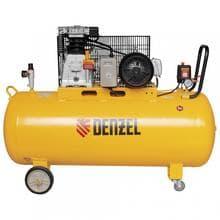 Компрессор воздушный DR3000/200 масляный ременной 10 бар произв. 520л/м мощность 3кВт// Denzel