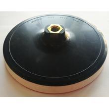 Диск опорный для кругов на липучке d180х18мм М14 чёрная с белой прослойкой