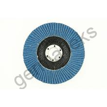 Круг лепестковый тарельчатый d180/22,2 Р60 (плоский) (цирконий)