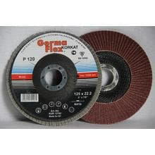 Круг лепестковый тарельчатый d125/22,2 Р120 (выгнутый) (корунд)