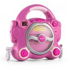 CD-проигрыватель AUNA Pocket Rocker для караоке (розовый)